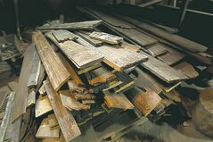 Lumber Prairie Barnwood has collected from old barns for making furniture.