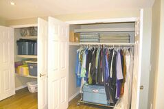 Lots of storage and closet space was included in the reno.