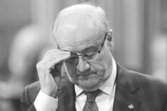 Veterans Affairs Minister Julian Fantino pauses as he answers a question  during question period in the House of Commons on Thursday.