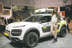 The new Citroen C4 Cactus features rubberized, scratch-proof panels on the side doors.