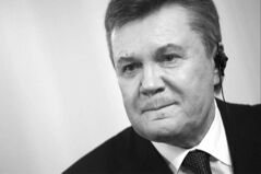 Ousted Ukrainian president Viktor Yanukovych during an interview with The Associated Press in Russia on Wednesday. (Ivan Sekretarev / The Associated Press)