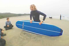 Learning how to surf off Pacific Rim National Park Reserve in B.C.