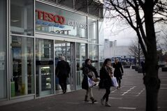 A branch of Tesco Express is seen near the North Greenwich Arena in London, Thursday, Jan. 12, 2012. THE CANADIAN PRESS/AP, Matt Dunham