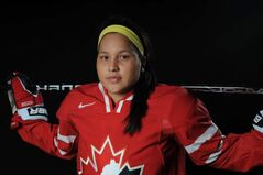 Brigette Lacquette is the first aboriginal player to make the 40-player roster of Team Canada's women's team. 'To be a role model for First Nation youth across Canada is always a plus.'