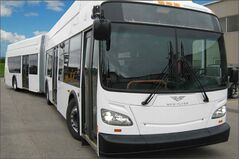Riders on the 54 St. Vital Express will be hopping on one of these articulated buses today.