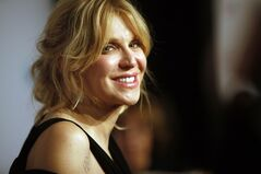 FILE - In this Oct. 15, 2013 file photo, Courtney Love arrives at the Elton John AIDS Foundation's 12th Annual