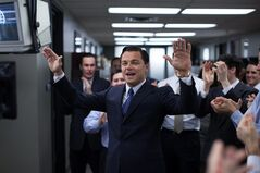This photo released by Paramount Pictures shows, Leonardo DiCaprio as Jordan Belfort in 'The Wolf of Wall Street,