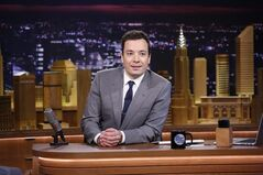 FILE - In this Feb. 17, 2014 file photo provided by NBC, Jimmy Fallon appears during his