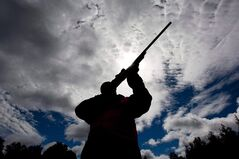 A rifle owner checks the sight of his rifle at a hunting camp property in rural Ontario west of Ottawa, Sept. 15, 2010. The Canadian Sports Shooting Association has launched a national petition that asks Ottawa to establish a single