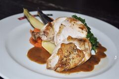 For this Brasserie Chicken dish created by Bier Markt executive chef Michael Cipollo, the chicken is soaked in a brine of kosher salt, pepper, water and Witbier (white ale) before cooking. Because of all the potential levels of flavour in beer, it is very versatile in terms of pairing with food. THE CANADIAN PRESS/HO, Bier Markt