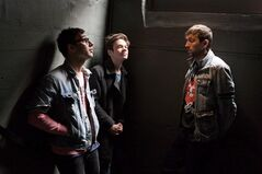 Nate Ruess, centre, Jack Antonoff, left, and Andrew Dost of the band