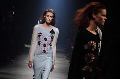 Models wear creations by Sonia Rykiel during the presentation of her Fall/Winter 2013-2014 ready to wear collection in Paris on March 1, 2013. Nathalie Rykiel of the fashion house Sonia Rykiel has been named honorary president of the Fashion & Design Festival in Montreal scheduled to take place this summer. THE CANADIAN PRESS/AP, Zacharie Scheurer