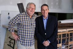 Canadian film director Ivan Reitman (right) and chef Jonathan Waxman are shown in a handout photo. Reitman's newest project is a departure from his comedic fare. He is branching out into the restaurant business, teaming up with Waxman of New York's Barbuto to open Montecito, an establishment named for Reitman's production company. THE CANADIAN PRESS/HO