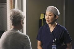 This publicity image released by ABC shows Sandra Oh, right, in a scene from