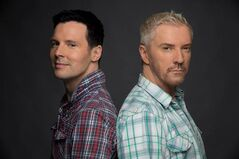 Interior design stars Colin McAllister (left) and Justin Ryan, shown in a handout photo, are back with a new series, Colin and Justin's Cabin Pressure, they say has been their most