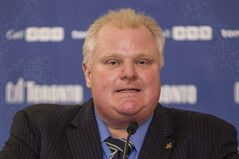 Toronto Mayor Rob Ford speaks in Toronto on Tuesday, December 10 2013. Ontario's highest court has upheld a legal victory for Ford against a restaurant owner who had sued him for defamation.THE CANADIAN PRESS/Chris Young