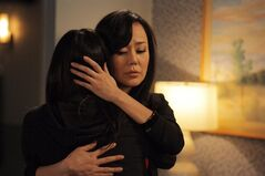 Yunjin Kim (right) is pictured in a scene from the second season premiere of