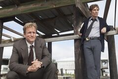 This file image released by HBO shows Woody Harrelson, left, and Matthew McConaughey from the HBO series