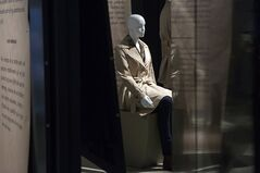 A mannequin displays a creation from Fashion Follows Form: Designs for Sitting,