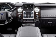 The interior of a 2013 F-Series Super Duty pickup truck, equipped with Ford's high-tech Sync voice recognition system, is shown in this undated handout photo. THE CANADIAN PRESS/HO - Ford Canada