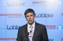 Galen Weston Jr. speaks at a press conference in Toronto on July 15, 2013. THE CANADIAN PRESS/Michelle Siu