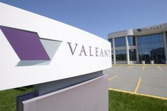 The head office and sign of Valeant Pharmaceutical are pictured in Montreal on May 27, 2013. THE CANADIAN PRESS/Ryan Remiorz