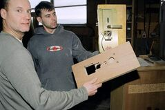President Richard Schmidtke and a Dormond Industries employee show that the most intricate hardware can be accommodated.