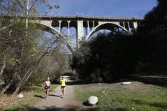 This Feb 12, 2014 photo shows the Arroyo Seco area of Pasadena, Calif. Also known as
