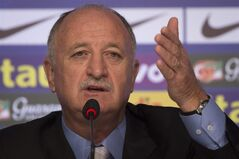 FILE - This is a Wednesday, May 7, 2014 file photo of Brazil's soccer coach Luiz Felipe Scolari as he announces his list of players for the 2014 Soccer World Cup during a news conference in Rio de Janeiro, Brazil. Brazil coach Luiz Felipe Scolari is the subject of a criminal investigation in Portugal, authorities said Wednesday May 14, 2014. Officials wouldn't say what the investigation is about. In Portugal, ongoing investigations fall under the country's judicial secrecy law. (AP Photo/Felipe Dana, File)