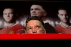 Manchester United's new manager Louis van Gaal speaks during a press conference at Old Trafford Stadium, Manchester, England, Thursday July 17, 2014. The new manager takes over after recently guiding Holland to third place at the 2014 World Cup. (AP Photo/Jon Super)