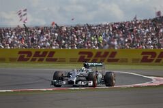 Britain's Lewis Hamilton of Mercedes drives his car to first place during the British Formula One Grand Prix at Silverstone circuit, Silverstone, England, Sunday, July 6, 2014. Finland's Valtteri Bottas of Williams finished second and Australia's Daniel Ricciardo of Red Bull finished third. (AP Photo/Jon Super)