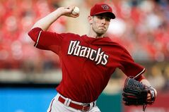 Arizona Diamondbacks starting pitcher Brandon McCarthy throws during the first inning of a baseball game against the St. Louis Cardinals on Wednesday, May 21, 2014, in St. Louis. (AP Photo/Scott Kane)