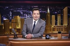 In this photo provided by NBC, Jimmy Fallon appears during his