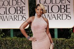 FILE - In this Jan. 15, 2012 photo, Mary J. Blige arrives at the 69th Annual Golden Globe Awards in Los Angeles. Blige brought out plenty of emotion as she performed in front of a packed house to support one of her favorite charities. Blige sang several of her most famous songs including