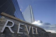 FILE - This Feb. 14, 2013 file photo shows the Revel in Atlantic City, N.J. The Revel Casino Hotel will shut down on Sept. 10, 2014 after failing to find a buyer in bankruptcy court, company officials announced Tuesday, Aug. 12, 2014. (AP Photo/Mel Evans, File)