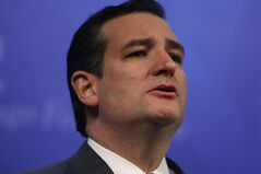 FILE - In this file photo taken Feb. 10, 2014, U.S. Sen. Ted Cruz, R-Texas, speaks in Washington. He has made good on a promise to renounce his birth country's citizenship, doing do amide speculation he could make a run at the White House in 2016. Cruz, 43, was born in Calgary, Alberta, in 1970, while his parents were working in the oil business there. His mother, Eleanor, is from Delaware, while his father, Rafael, is a Cuban who didn't become a U.S. citizen until 2005. (AP Photo/Charles Dharapak, File)