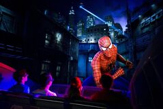 This March 6, 2012 photo provided by Universal Orlando Resort shows guests at the new high-tech version of the theme park's