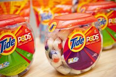 Tide Pods, three-chamber liquid unit dose pods. (AP Photo/Procter & Gamble Co.)