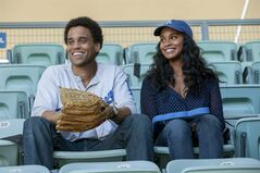 This image released by Sony Pictures shows Michael Ealy, left, and Joy Bryant in a scene from
