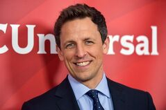 FILE - This Jan. 19, 2014 file photo shows Seth Meyers at the NBC/Universal Winter 2014 TCA in Pasadena, Calif. Meyers' new show,