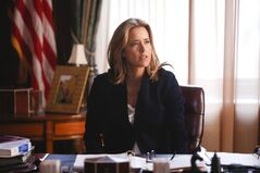 This image released by CBS shows Tea Leoni as Elizabeth McCord, the shrewd, determined, newly appointed Secretary of State in