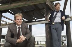 This image released by HBO shows Woody Harrelson, left, and Matthew McConaughey from the HBO series