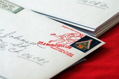 In this Dec. 14, 2013 photo, the special USPS postmark for the annual weekend festival honoring the classic movie