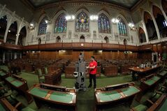 The Google Maps Trolley collects Street View imagery of Canada's House of Commons in a handout photo. Would-be MPs will soon be able to get an first-hand idea of what it's like to sit in the House of Commons.Google Street View is in the process of capturing images that will let people click their way through the historic halls and offices of the Parliament Buildings.THE CANADIAN PRESS/HO-Google Canada