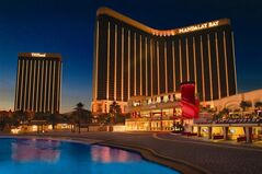 This image provided by MGM Resorts International shows a 2012 exterior view of Mandalay Bay resort in Las Vegas. The Mandalay Bay resort in Las Vegas announced Thursday April 24, 2014, a $66 million expansion project that will boost its convention center from the seventh-largest to the fifth-largest in the United States. (AP Photo/ MGM Resorts International)