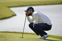 Spain's Alvaro Quiros contemplates a putt during the third day of the Nordea Masters at the PGA of Sweden National golf club outside Malmo, Sweden, Saturday May 31, 2014. (AP Photo / TT News Agency, Anders Wiklund) SWEDEN OUT