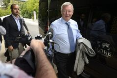 Former Manchester United soccer manager and UEFA coaching Ambassador Alex Ferguson arrives for the 16. Elite Club Coaches Forum at the UEFA Headquarters in Nyon, Switzerland, Thursday, Sept. 4, 2014. (AP Photo/Keystone,Laurent Gillieron)