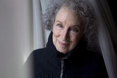 Author Margaret Atwood is pictured in a Toronto hotel room on Tuesday March 6, 2012, as she promotes the documentary film 'Payback' based on her book. CanLit legend Atwood will help choose the next winner of the $50,000 Scotiabank Giller Prize.THE CANADIAN PRESS/Chris Young.