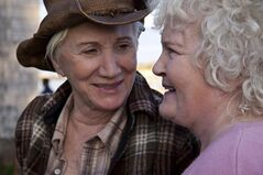 Olympia Dukakis stars as Stella (left) and Brenda Fricker stars as Dot (right) in the film