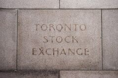 The fading name on the building in Toronto that used to house the Toronto Stock Exchange is pictured on August 18 2011. THE CANADIAN PRESS/Aaron Vincent Elkaim